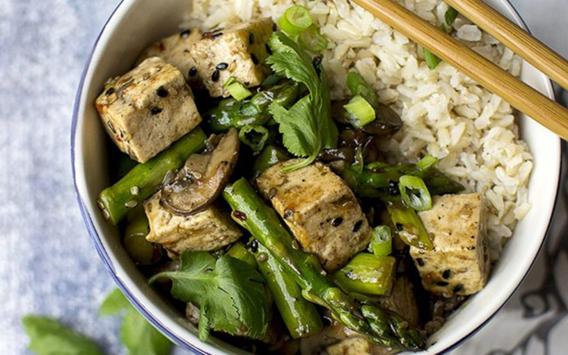 Shiitake Asparagus Stir Fry Tofu Recipe — Dishmaps